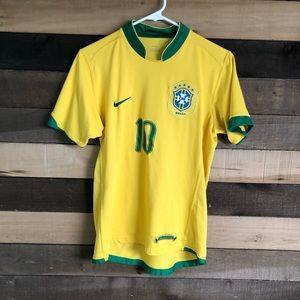 Nike Brasil Soccer Men's Jersey Ronaldinho size S